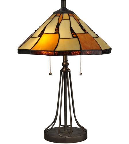 Dale Tiffany Tt13194 Nero 24 Inch 60 Watt Dark Bronze Table Lamp