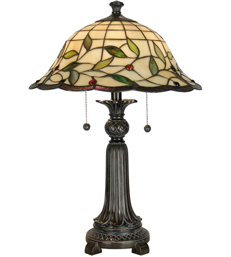 Dale Tiffany TT60574 Donavan 23 inch 60 watt Mica Bronze Table Lamp Portable Light photo