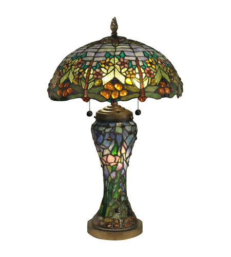 Dale Tiffany Atticus Table Lamp 3 Light in Antique Bronze TT60577 photo