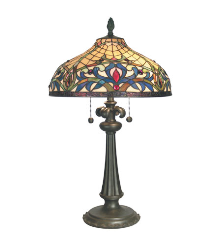 Dale Tiffany Bailey Table Lamp 2 Light in Mica Bronze TT60585 photo
