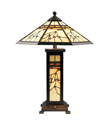 Dale Tiffany TT70331 Mission 25 inch 60 watt Antique Golden Sand Table Lamp Portable Light photo