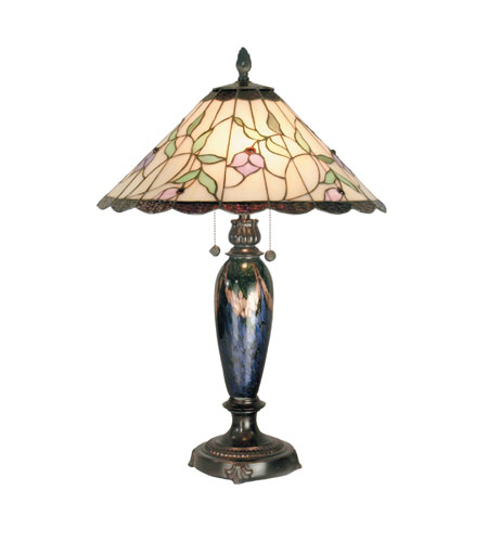 Dale Tiffany New Boston 2 Light Table Lamp in Fieldstone TT70707 photo