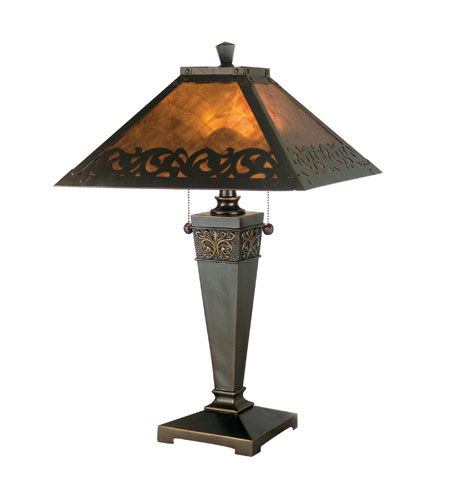 Dale Tiffany Valentino 2 Light Table Lamp in Antique Golden Sand TT80171 photo