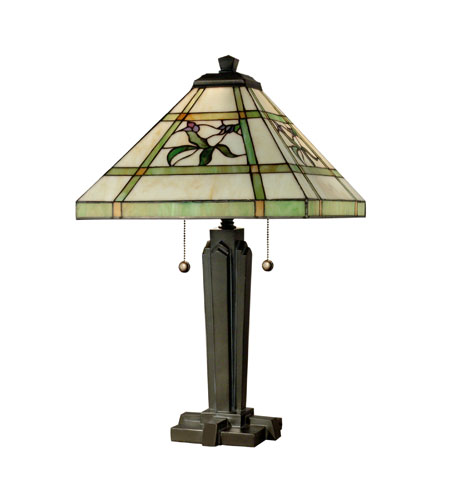 Dale Tiffany Hollingworth 2 Light Table Lamp in Antique Bronze TT80376 photo