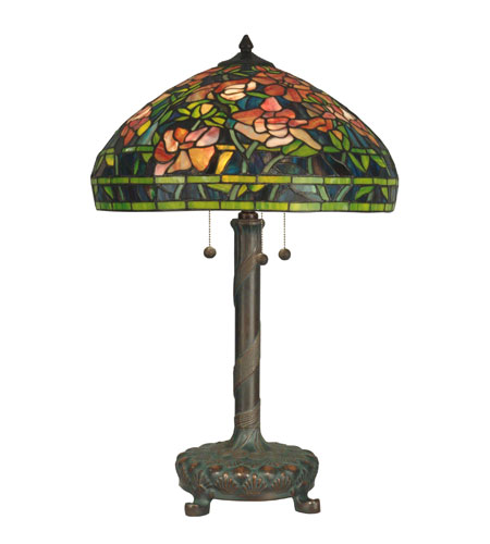 Dale Tiffany Tiffany 3 Light Table Lamp in Dark Antique Bronze TT90425 photo