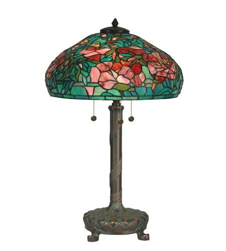 Dale Tiffany Tiffany 3 Light Table Lamp in Antique Verde TT90426 photo