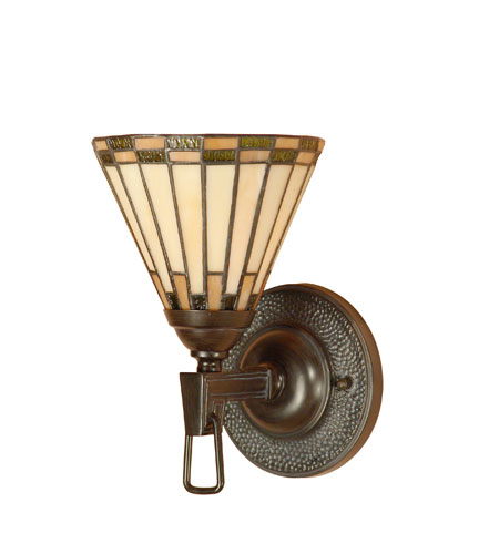 Dale Tiffany Gustav 1 Light Wall Sconce in Mica Bronze TW100733 photo