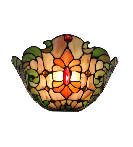 Dale Tiffany TW100886 Leland 1 Light 13 inch White Wall Sconce Wall Light photo