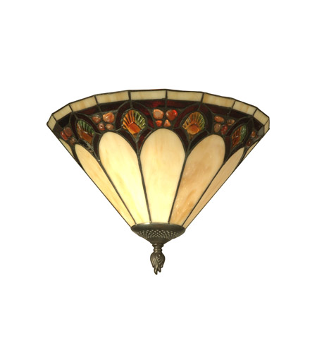 Dale Tiffany Crystal Jeweled Pebblesrone Wall Sconce 1 Light in Antique Bronze Paint TW11154 photo
