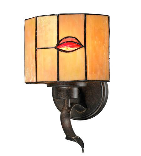 Dale Tiffany Fantom 1 Light Wall Sconce in Rustic Bronze TW12449