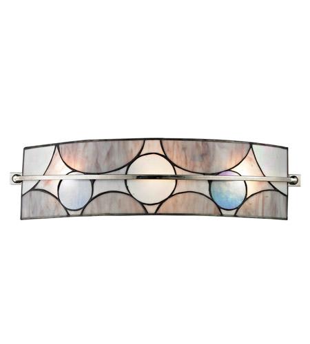 Tiffany Bathroom Lighting: Dale Tiffany Meridian 3 Light Vanity Light In Black Nickel