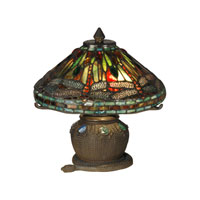 Dale Tiffany 101205 Dragonfly 10 inch 40 watt Antique Bronze Accent Lamp Portable Light photo thumbnail