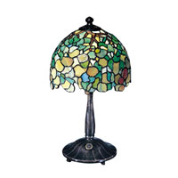 Dale Tiffany Hydrangea Replica Lamp 2 Light in Antique Bronze 101206