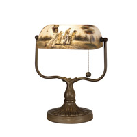 Dale Tiffany 10164/417 Golf Handale 13 inch 60 watt Antique Bronze Paint Accent Lamp Portable Light