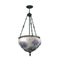 Hydrangea 3 Light 18 inch Antique Bronze Paint Hanging Fixture Ceiling Light
