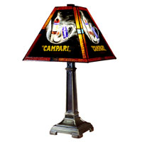 Campari Handale 22 inch 100 watt Antique Brass Table Lamp Portable Light