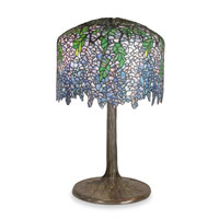 Dale Tiffany Wisteria 4 Light Table Lamp in Antique Verde 1037/184