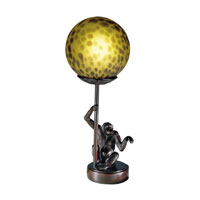 Dale Tiffany Monkey With Round Ball Accent Lamp 1 Light in Antique Bronze Plating 1603