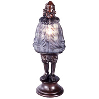Dale Tiffany 1642 Scotch Boy Plaid 13 inch 7 watt Antique Bronze Accent Lamp Portable Light