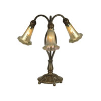 Dale Tiffany Gold Lily Replica Table Lamp 3 Light in Antique Bronze/Verde 1704/237
