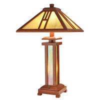 Dale Tiffany Wood Mission Table Lamp 3 Light in Oak 2401