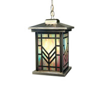 Dale Tiffany Multi Color Imperial 1 Light Hanging Lantern in Antique Brass 2458/1LTH photo thumbnail