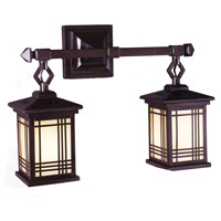 Dale Tiffany Avery Lantern Wall Sconce 2 Light in Antique Bronze 2604/2LMW