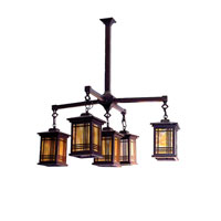 Dale Tiffany Avery Lantern 5 Light Pendant in Antique Bronze 2604/5LMH