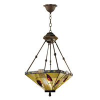 Dale Tiffany Henderson Inverted Fixture 3 Light in Antique Bronze 2720/3LTY photo thumbnail