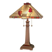 Dale Tiffany Henderson Table Lamp 2 Light in Antique Bronze 2721/739