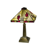Dale Tiffany 2724/797 Henderson 15 inch 60 watt Antique Bronze Paint Table Lamp Portable Light