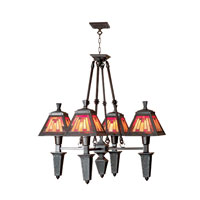 Dale Tiffany Sunset Mission Fixture 4 Light in Mica Bronze 6060/4LTB
