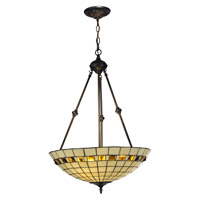 Dale Tiffany Geometric Jewel Inverted Fixture 3 Light in Antique Bronze 7190/3LTJ