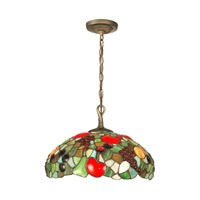 Dale Tiffany Fruit With Jewels Hanging Fixture 1 Light in Antique Brass Plating 7362/1LTA