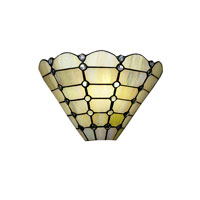 Dale Tiffany Beige Geometric Wall Sconce 1 Light 7411/1LTW