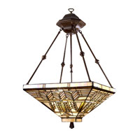 Dale Tiffany Oak Park Mission Inverted Fixture 3 Light in Antique Bronze 7437/3LTY photo thumbnail