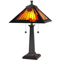Dale Tiffany 7560/965 Mission 24 inch 60 watt Mica Bronze Table Lamp Portable Light