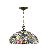 Dale Tiffany Hummingbird Hanging Fixture 1 Light in Antique Brass 7655/1LTA photo thumbnail