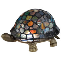 Dale Tiffany 7908/816A Blue Turtle 4 inch 15 watt Antique Bronze Accent Lamp Portable Light