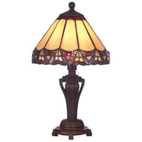 Dale Tiffany Peacock Accent Lamp 1 Light in Antique Bronze 8034/640