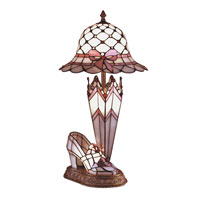 Dale Tiffany Hat Shoe And Umbrella Table Lamp 3 Light in Antique Brass 84070