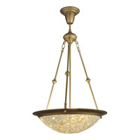 Dale Tiffany Mosaic Jewel Inverted Fixture 3 Light in Antique Gold 8568/3LTLG