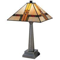 Edmund Mission Style 21 inch 100 watt Chocolate Bronze Table Lamp Portable Light