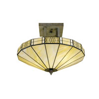 Dale Tiffany Umbrella Frligree Mission Semi Flush Mount 2 Light in Antique Bronze 8678/2LTF