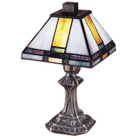 Dale Tiffany Tranquility Mission 1 Light Mini in Antique Brass 8706