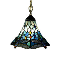 Dale Tiffany Dragonfly 1 Light Pendant in Antique Brass 8935/1LTA