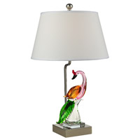 Dale Tiffany Peacock 1 Light Sculpture in Polished Nickel AC15042