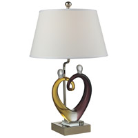 Dale Tiffany AC15043 Hearts 28 inch 150 watt Polished Nickel Table Lamp Portable Light
