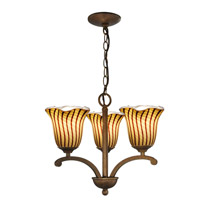 Valley Glen 3 Light 18 inch Antique Golden Bronze Pendant Ceiling Light