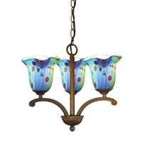 Dale Tiffany AH14289 Mogan 3 Light 18 inch Antique Golden Bronze Pendant Ceiling Light
